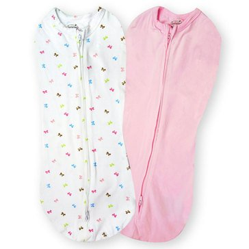 SwaddlePod, Baby Bows & Pink, 2-Pack