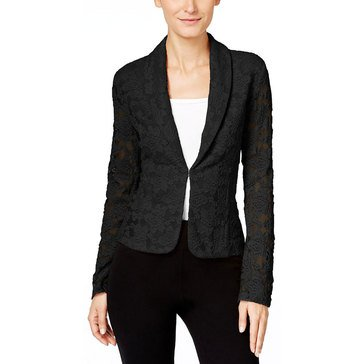 INC International Concepts Knit Lace Blazer