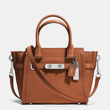 Coach Pebble Leather Swagger 21 Satchel Saddle