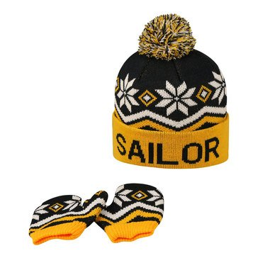 Top Of The World USN Toddler Future Sailor Beanie and Mitten Set
