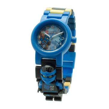 LEGO Kids' Ninjago Jay Sky Pirates Minifigure Link Watch