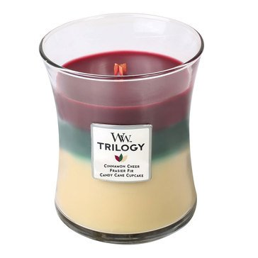 Woodwick Christmas Classic Trilogy 10 oz Scented Jar Candle - 3 in One