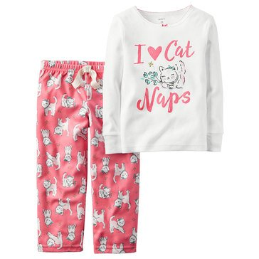 Carter's Little Girls' 2-Piece Cat Nap Cotton Pajamas