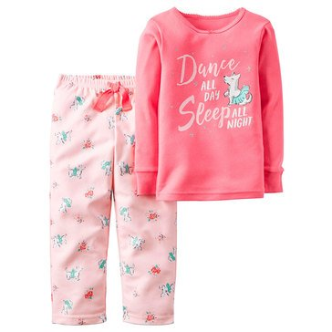 Carter's Little Girls' 2-Piece Dance Cotton Pajamas