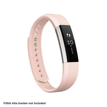 Fitbit Alta Leather Accessory Band - Blush Pink / Large