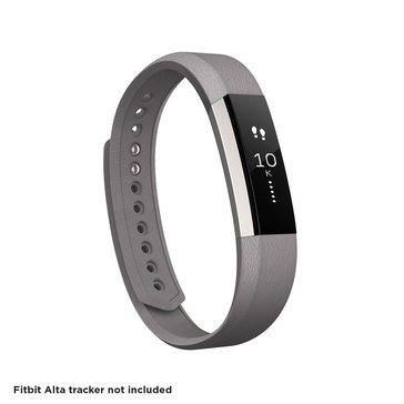 Fitbit Alta Leather Accessory Band - Graphite / Large