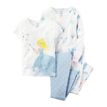 Carter's Little Girls' 4-Piece Cotton Fairies Pajama Set