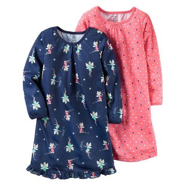 Carter's Little Girls' 2-Piece Fairies/Dots Gown Set