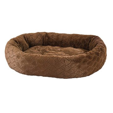 Ethical Pets Sleep Zone Diamond Cut Lounger Chocolate 27