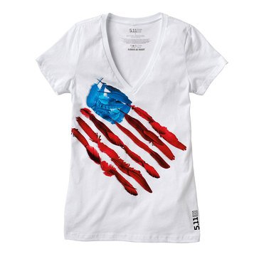 5.11 Tactical Women's Feather Flag Tee in White