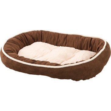 Ethical Pets Sleep Zone Shearling Oval Cuddler Chocolate 35