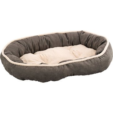 Ethical Pets Sleep Zone Shearling Oval Cuddler Deep Gray 35