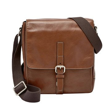 Fossil Davis North/South City Bag-Cognac