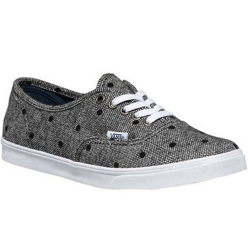 Vans Authentic Lo Pro Women's Skate Shoe Navy / TrueWhteTweedDots