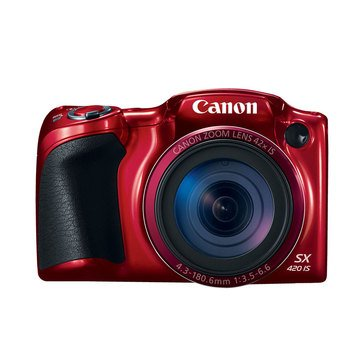 Canon Powershot SX420 IS 20MP Digital Camera - Red