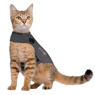 Thundershirt Cat Anxiety Medium Shirt Heather Grey