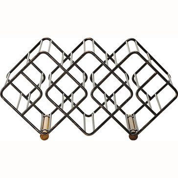 Gourmet Basics by Mikasa 12-Bottle Stackable Metal Wine Rack, Antique Black