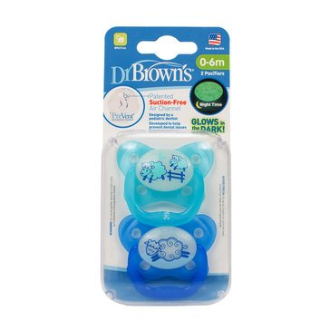 Dr. Brown's PreVent Contoured Glow-in-the-Dark Se 1 Pacifier, 0-6 Months