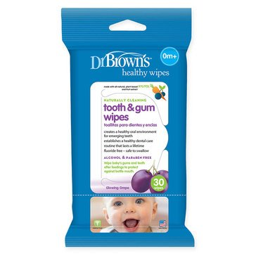 Dr. Brown's Tooth and Gum Wipes, 30-Pack
