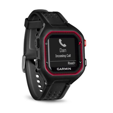 Garmin Forerunner 25 GPS Watch - Black/Red - Large