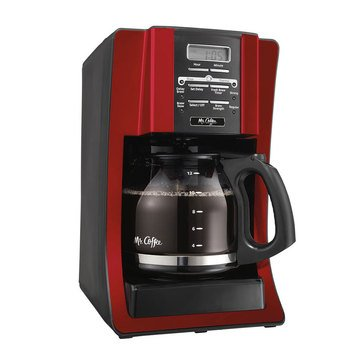 Mr. Coffee 12-Cup Programmable Coffee Maker, Red (BVMC-SJX36GT)
