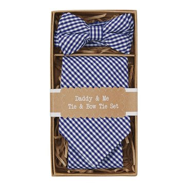 Mud Pie Daddy & Me Tie & Bow Tie Set, Gingham