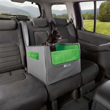 Kurgo Travel Skybox Rear Booster Seat Grey and Green