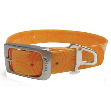 Kurgo Muck Dog Collar Crop Circles Kurgo Orange Medium