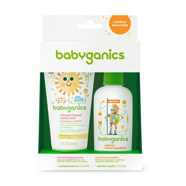 BabyGanics Mineral-Based Sunscreen Spray + Natural Insect Repellent Duo Pack
