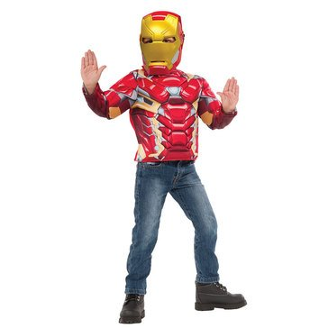 Iron Man Muscle Chest Deluxe Costume Box Set