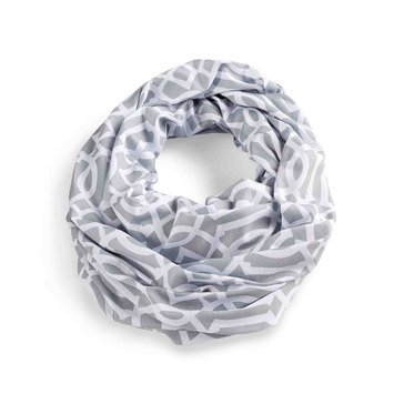 Mud Pie Nursing Scarf, Grey Lattice