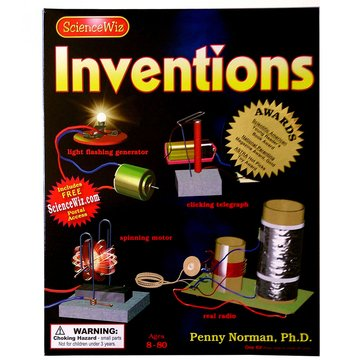 ScienceWiz Science Book & Kit - Inventions