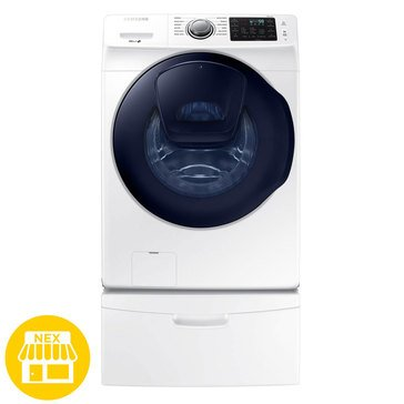 Samsung 4.5-Cu.Ft. AddWash Front Load Washer, White (WF45K6200AW)