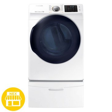 Samsung 7.5-Cu.Ft. Electric Dryer, White (DV45K6200EW)