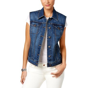 Style & Co  Denim Vest in Mosaic