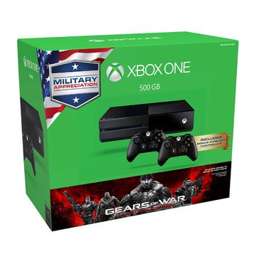 Xbox ONE 500GB Gears Of War Ultimate Edition Military Appreciation Bundle