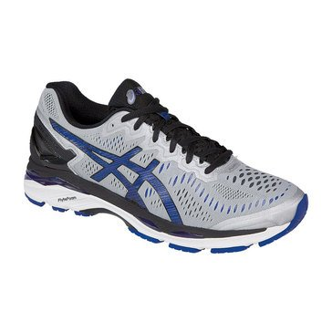 Asics Gel Kayano 23 (2E) Men's Running Shoe Silver / Imperial / Black