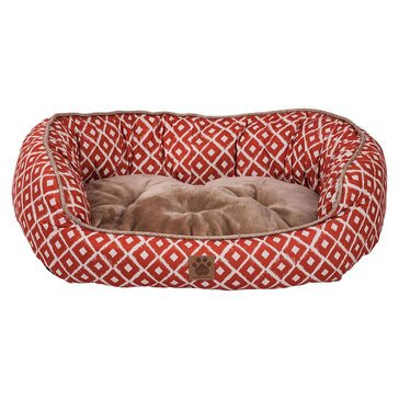 SnooZZy IKAT Daydreamer Orange Pet Bed 32x25x9.5