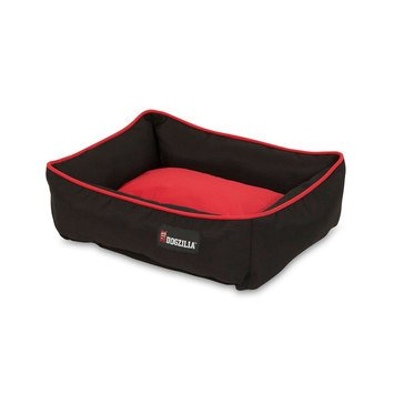 Dogzilla Rectangular Lounger Pet Bed Red and Black 22 x 18