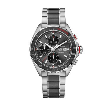 Tag Heuer Men's Formula 1 Calibre 16 Automatic Black Ceramic/Stainless Steel Chronograph Watch, 44mm