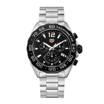 Tag Heuer Men's Formula 1 Black Titanium/Stainless Steel Chronograph Watch, 43mm
