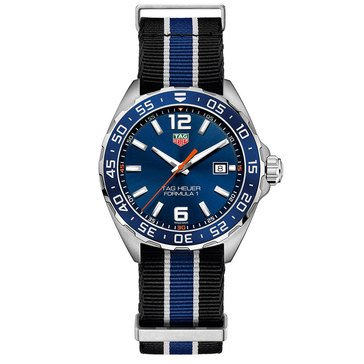 Tag Heuer Men's Formula 1 Blue/NATO Strap Watch, 43mm