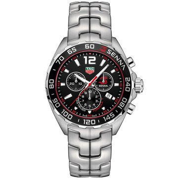 Tag Heuer Men's Formula 1 Senna Chronograph Stainless Steel Bracelet Watch 43mm