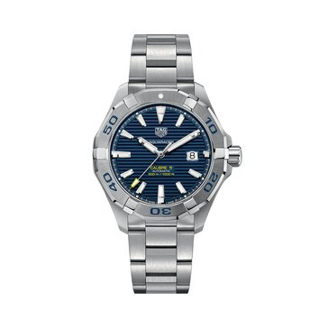 Tag Heuer Men's Aquaracer Calibre 5 Automatic Blue/Fine Brushed Steel Watch, 43mm