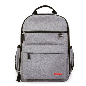 Skip Hop Duo Diaper Backpack, Heather Grey