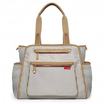SKIP HOP Grand Central Diaper Bag, French Stripe