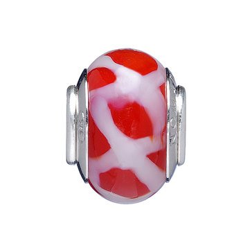 Nomades Red Tinsel Murano Glass Spacer