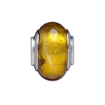 Nomades Mother Earth Amber Murano Glass Spacer