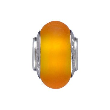Nomades Orange Glass Murano Glass Spacer