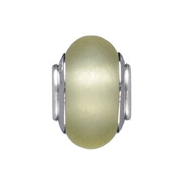Nomades Olive Glass Murano Glass Spacer